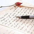 Love letter with a rose Stock Photography