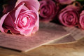 Love letter with roses Royalty Free Stock Photo
