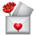 Love letter vector illustration of Stock Image