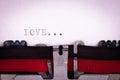Love letter written Royalty Free Stock Photo