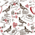 Love Letters Background Royalty Free Stock Photo