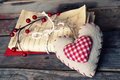 Love letters photo of old and heart shape decoration Stock Image