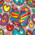 Love line seamless pattern Royalty Free Stock Photo
