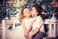 Love of little boy and girl Royalty Free Stock Photo