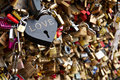 Love locks Stock Photography