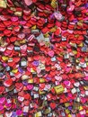 Love locks at Juliets house in Verona, Italy Royalty Free Stock Photo