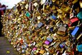 Love locks in paris makes part of pont des arts collapse http www bbc com news world europe Royalty Free Stock Photography