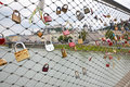 Love locks in salzburg august padlocks on bridge austria august lovelocks are left by sweethearts on bridges to symbolise their Royalty Free Stock Image