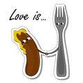Love Is... In Love Food Sticker.