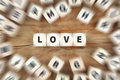 Love loving dice business concept Royalty Free Stock Photo