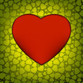 Love  made from green hearts. EPS 8 Royalty Free Stock Photo