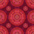 Love mandala seamless pattern Royalty Free Stock Photo