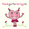 Love mascot thank you Royalty Free Stock Photo
