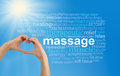 Love Massage word cloud Royalty Free Stock Photo