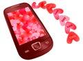 Love messaging Stock Photo