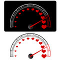 Love meter vector Stock Photography