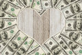 The love of money Royalty Free Stock Photo