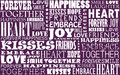 Love montage words of background image Royalty Free Stock Image