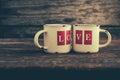 Love Mugs Royalty Free Stock Photo