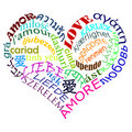 Love multilanguage multicolor Stock Image