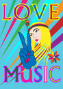 Love and music Royalty Free Stock Image
