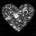 Love for music concept illustration Royalty Free Stock Photo