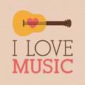 Love music design over dotted background vector illustration Royalty Free Stock Photos