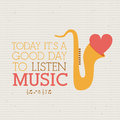 Love music design over dotted background vector illustration Stock Photo