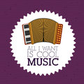 Love music design over purple background vector illustration Stock Photo