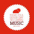 Love music design over red background vector illustration Stock Image