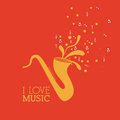 Love music design over red background vector illustration Stock Images