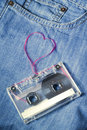 Love music jeans Royalty Free Stock Photography