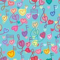 Love music note style love seamless pattern Royalty Free Stock Photo