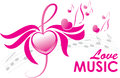 Love music, vector illustration Stock Image