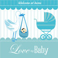 Love my baby over blue background vector illustration Royalty Free Stock Photo