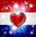 Love Netherlands flag heart background Stock Photography