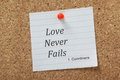 Love Never Fails Royalty Free Stock Photo