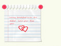 Love note on the refrigerator Royalty Free Stock Photography