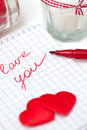 Love note for your valentine Stock Photo