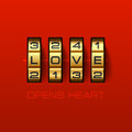 Love Opens Heart Royalty Free Stock Photo