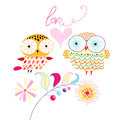 Love owls Royalty Free Stock Photos