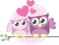 Love owls couple