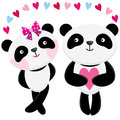 Love Panda Royalty Free Stock Photo