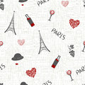 Love in Paris background. Seamless pattern Royalty Free Stock Photo