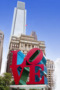 Love park in jfk plaza city of philadelphia pennsylvania usa Royalty Free Stock Images