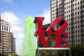 Love Park in Philadelphia Royalty Free Stock Photo