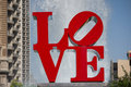 Love park philadelphia may in philadelphia close up of the s sculpture built by robert indiana was placed in the in Stock Photo