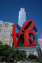 Love park philadelphia may in philadelphia close up of the s sculpture built by robert indiana was placed in the in Royalty Free Stock Photography