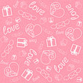 Love pattern Royalty Free Stock Photo