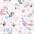 Love the pattern of the fun of birds Royalty Free Stock Photo